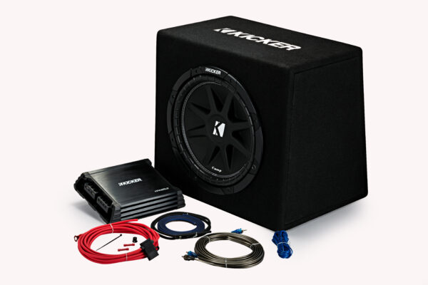 44KKP212 – 12″ Ported Enclosure + Amp + Wiring Kit • 44KP212